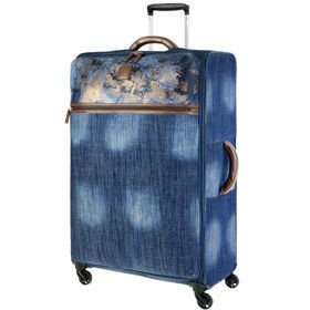 IT Luggage The-Lite Metallic Denim duża walizka