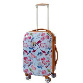 IT Luggage Warrior Blue & Pink Summer Floral Print mała walizka kabinowa S