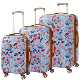 IT Luggage Warrior Blue & Pink Summer Floral Print zestaw walizek / komplet / set /