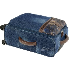 IT Luggage The-Lite Metallic Denim mała walizka kabinowa