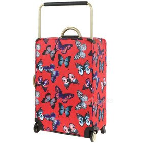 IT Luggage World's Lightest Red Butterfly średnia walizka