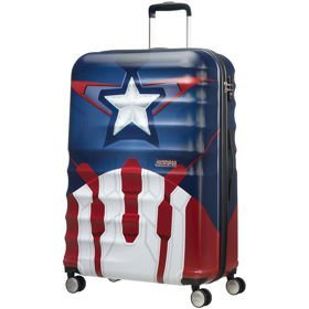 American Tourister Wavebreaker Disney duża walizka 77 cm / Captain America Close-Up