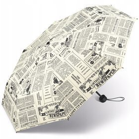 Happy Rain Essentials Super Mini 42093 krótki składany parasol / Newspaper